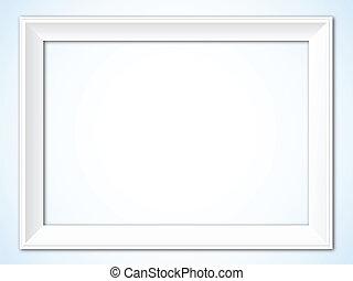 White Picture Frame - Horizontal Vector Illustration