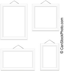 White picture frames. Isolated on white EPS10 vector...
