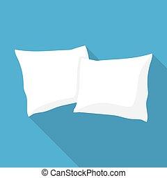White pillow, cushion vector illustration