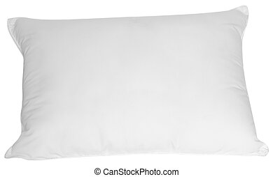 Isolated white pillow