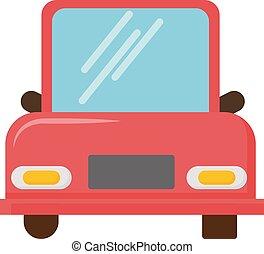 white piros, autó, háttér., vektor, ábra