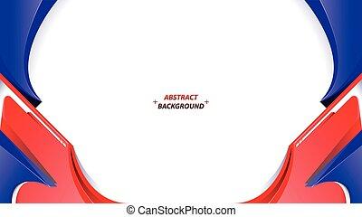 white piros, blue háttér, elvont