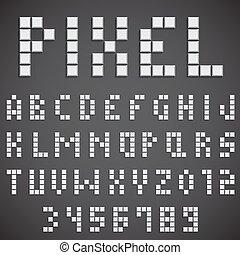 White Pixel Font