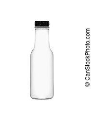 White plastic bottle for milk