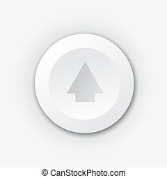 White plastic button with up arrow