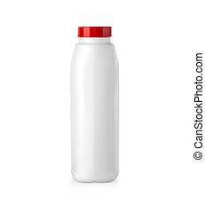 white plastic canister