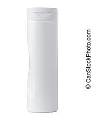 white plastic cosmetics bottle