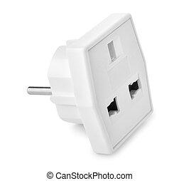 White plastic power adapter