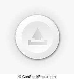 White plastic upload button