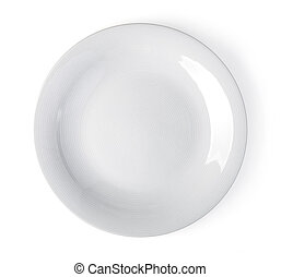 white plate on a white
