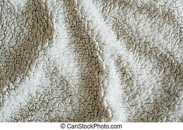 Soft white plush blanket background A warm white plush stock