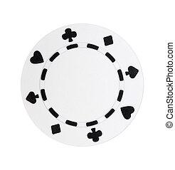 White Poker Chip