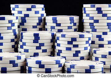 white poker chips