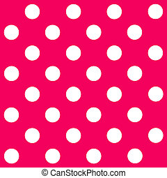 White Polka Dot on pink background
