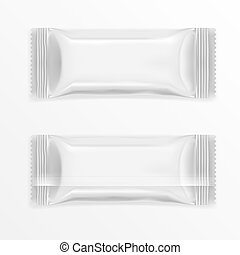 White Polyethylene Package For Chocolate Bar