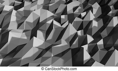 white polygonal geometric surface. computer generated seamless loop abstract motion background. 4k UHD 3840x2160