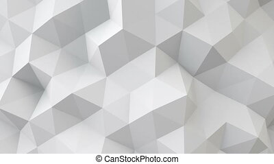 white polygonal geometric surface seamless loop - white...