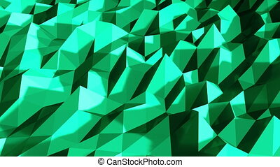 white polygonal geometric surface. computer generated seamless loop abstract motion background.