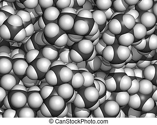 (white), polypropylene, convencional, coding:, esferas, cor, -, pp), (grey), átomos, químico, detail., (polypropene, representado, carbono, hidrogênio, estrutura, plástico