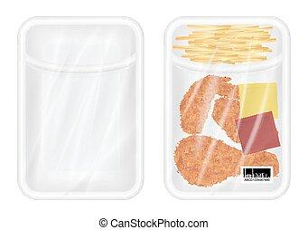 White polystyrene packaging