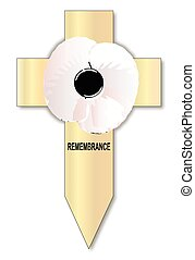 White Poppy Cross