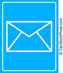 white postal envelope icon