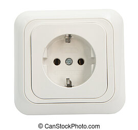 White Power Outlet and socket isola