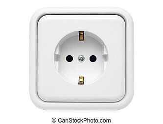 White Power Outlet - Shot of an European power outlet. File...