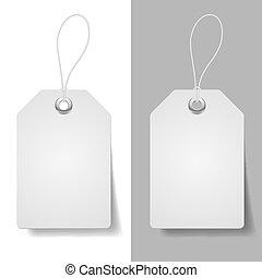 White price tags