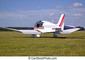 White private aircraft.