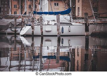 white Private Boat on river