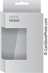 White Product Package Box With Window. Illustration Isolated vector