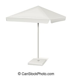 White promotional square advertising parasol umbrella...