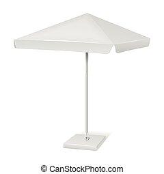 White promotional square advertising parasol umbrella...
