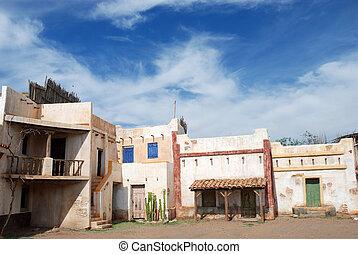 White pueblo village