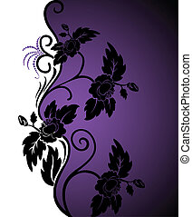 White-purple background