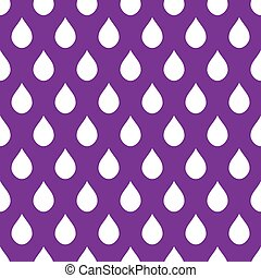 White Purple Water Drops Background