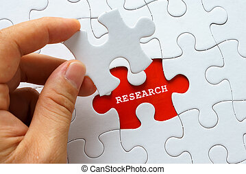 White puzzle with word RESEARCH