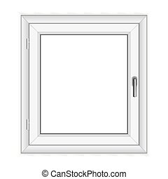 White PVC vector window isolated on white background