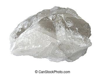 White quartz - Big druse of white quartz isolated over white