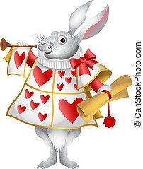 White Rabbit Herald - My cartoon version of the white rabbit...