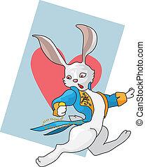White rabbit is running