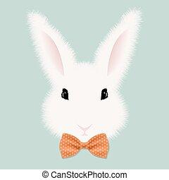 White Rabbit With Bow Tie