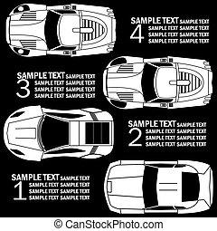 white racing car template