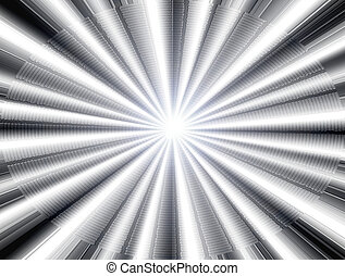 white ray of ligth