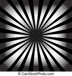 White rays on black background. Abstract background. Vector