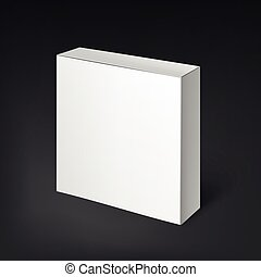 White realistic box. Mockup Template