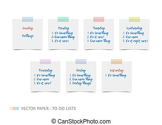 White realistic vector sticky notes with shadow