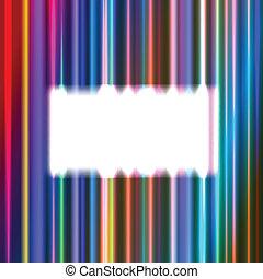 White rectangular frame