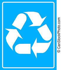 white recycling bin icon